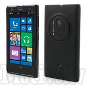 Nokia Lumia 1020 RM-875 RM-876 RM-877 Frosted TPU Gel Case Bumper Cover, black - vāks bamperis