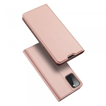Samsung Galaxy A41 (SM-A415F) DUX DUCIS Skin Pro Series Card Slot PU Leather Phone Case Cover, Rose