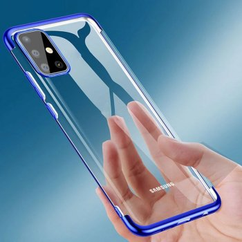 Samsung Galaxy A71 (SM-A715F) Clear Color Electroplating Cover Case, Blue