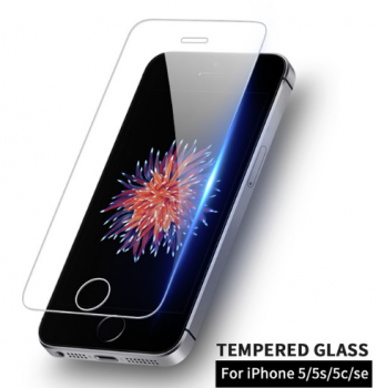 Tempered Glass Screen Protector for Apple iPhone 5 5C 5S SE, 0.3mm 9H 2.5D