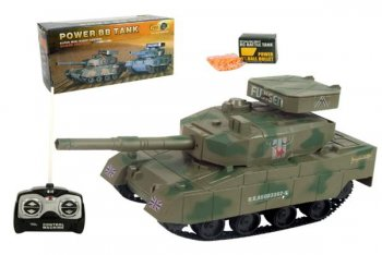 Remote controlled Tank with a functional gun