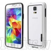 Samsung Galaxy S6 SM-G920F Backless TPU Hybrid Bumper Case, white - bamperis rāmītis
