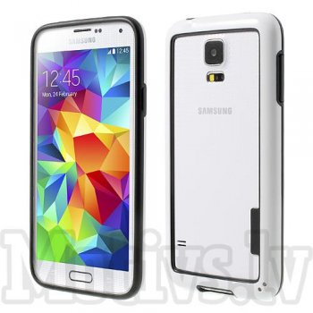 Samsung Galaxy S6 SM-G920F Backless TPU Hybrid Bumper Case, white