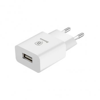 Baseus 2.1A USB Wall Travel Charger for Phone, Tablet, Ebook, Power bank, white - мощная USB зарядка