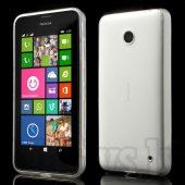Nokia Lumia 630 / 630 DS Dual SIM RM-978 635 RM-974 Ultrathin Slim TPU Case, transparent - аксессуар обложка бампер