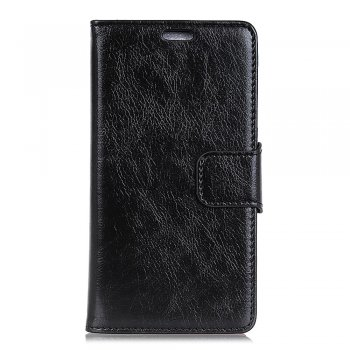 Xiaomi Mi Mix 3 Textured Leather Case - Black / Telefona vāciņš-maciņš, EKO āda, Melns