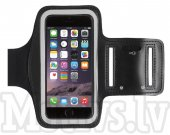 Sport Armband pouch case Size M for iPhone. Samsung, LG, Sony, Microsoft, HTC, black - universālais sporta maks