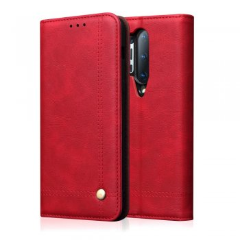 OnePlus 8 Pro Retro Style Crazy Horse Wallet Leather Stand Case, Red | Чехол для Телефона Книжка