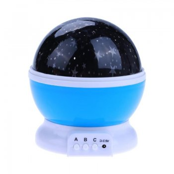 Dream Rotating Night Star Projection Lamp, Blue