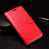 LG Google Nexus 5X H791 Crazy Horse Leather Wallet Case Cover Stand, red – vāks vāciņš maks maciņš