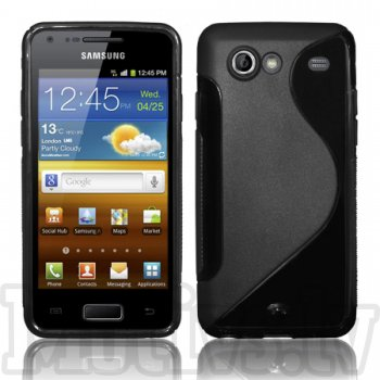 Samsung Galaxy S Advance i9070 TPU S-Line Case Cover Shell, black - puscietais aizsargvāciņš