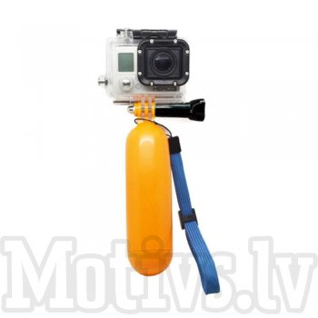 Floating Bobber Handy Grip with Wrist Strap and Thumb Screw for Gopro Hero 4 / 3+ / 3, yellow