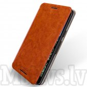 LG Google Nexus 5X H791 MOFI Rui Leather Book Case Cover Stand, brown - maks maciņš, vāciņš