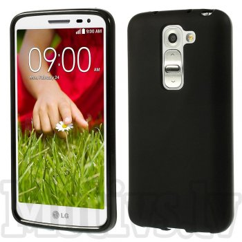 LG Optimus G2 mini D610 D618 D620 D620R D620K TPU Gel Case Bumper Cover, black - aksesuārs vāks bamperis
