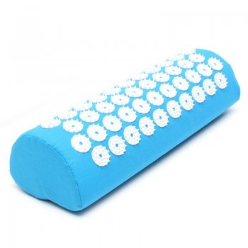 Acupressure Neck Massage Pillow, Light Blue 38x14x10cm