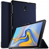 "Samsung Galaxy Tab A 10.5"" SM-T590 Tri-fold Stand Smart Leather Case Cover, blue - vāks apvalks pārvalks"