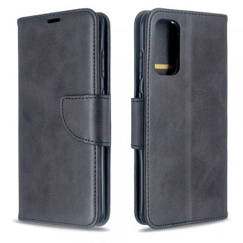 Samsung Galaxy S20 PU Leather Wallet Case Cover, Black | Telefona maciņš-vāciņš, EKO āda, Melns