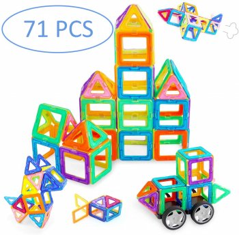 Educational Building Toy for Kids - Magical Magnetic Blocks 71pcs