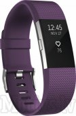 Fitbit Charge 2 large - plum/silver wristband activity tracker, sporta aproce (FB407SPML-EU)
