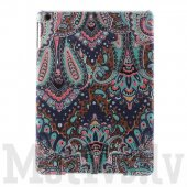 "Apple iPad Air 5 9.7"" Tribal Floral Pattern Cloth Coated hard case cover"