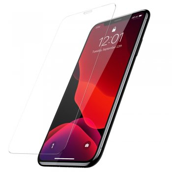 "Apple iPhone XR / 11 6.1"" Baseus Full Tempered Glass 2x, Transparent 