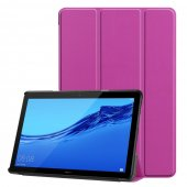 "Huawei MediaPad T5 10.1"" Leather Case with stand, purple- vāks apvalks pārvalks"