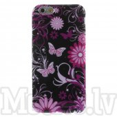 "Apple iPhone 6 6S 4.7"" Pattern Soft Glossy TPU Back Case, Butterfly Flowers – puscietais maciņš vāciņš"