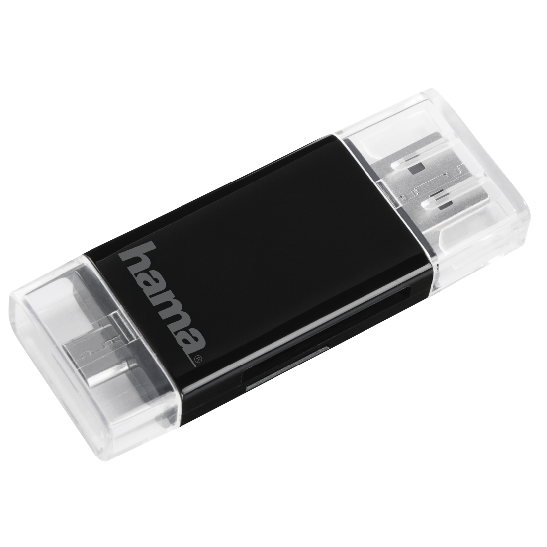 Hama USB 2.0 OTG Card Reader for Smartphone Tablet SD microSD
