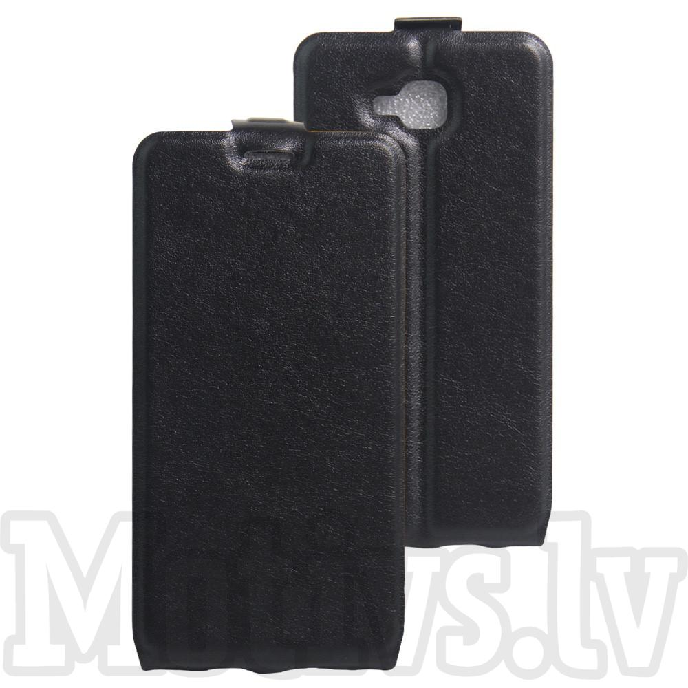 Huawei Honor 5c / 7 Lite Crazy Horse Vertical Flip Leather Card Slot Case, black - maks maciņš vāks vāciņš (51916)