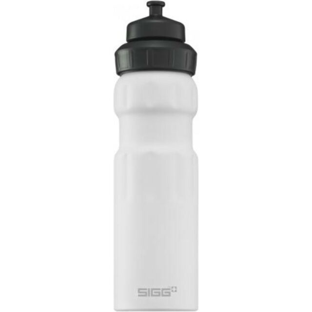 Sigg Water Bottle alu WMB Wide Mouth Sports white