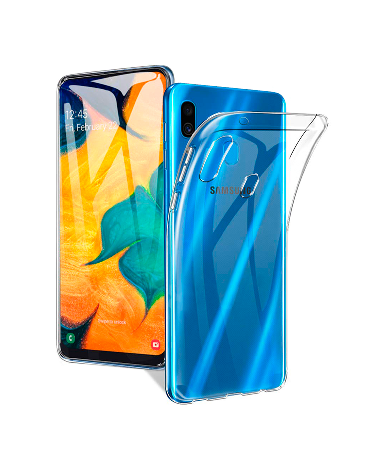 Samsung Galaxy A30 (SM-A305F/DS) Ultrathin TPU Silicone Case, transparent - аксессуар обложка бампер