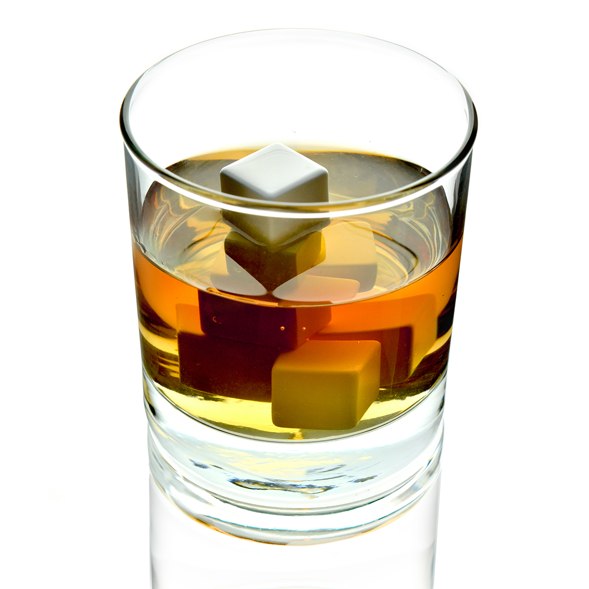 Viskija Akmeņi no keramikas 4gb XL | Whisky ( whiskey ) Stones Cooling Cubes - Ceramic, White