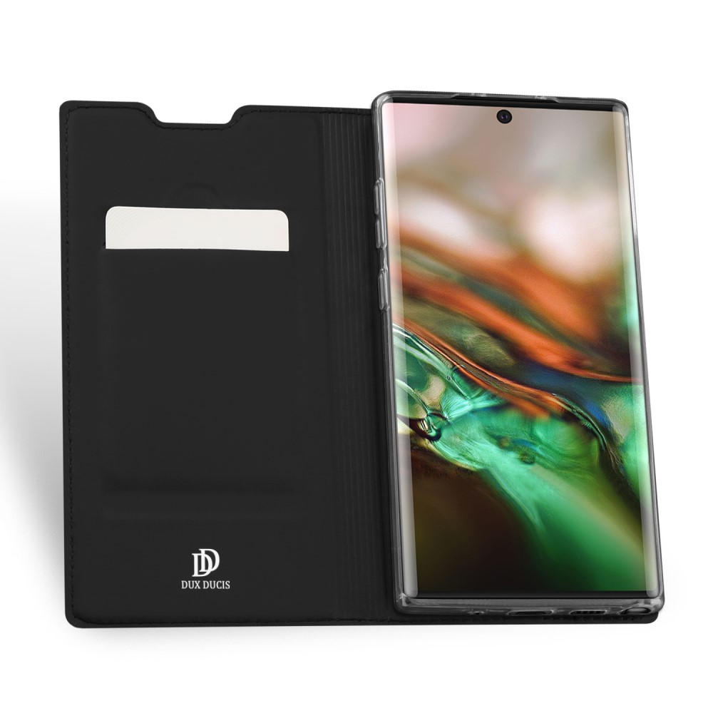 Maciņš vaciņš apvalks priekš Samsung Galaxy Note 10 (SM-N970F) | DUX DUCIS PU Leather Case – Black - bilde 4