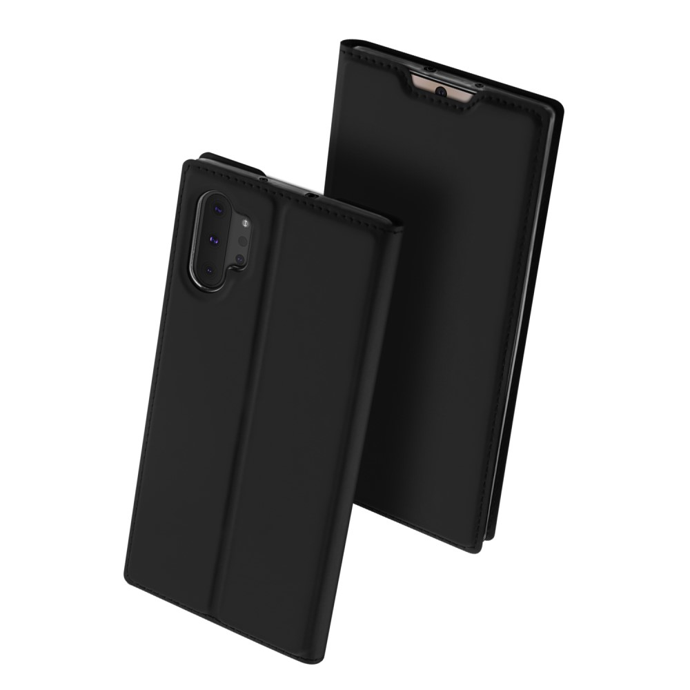 Maciņš vaciņš apvalks priekš Samsung Galaxy Note 10 Plus (SM-N975F) | DUX DUCIS PU Leather Case – Black