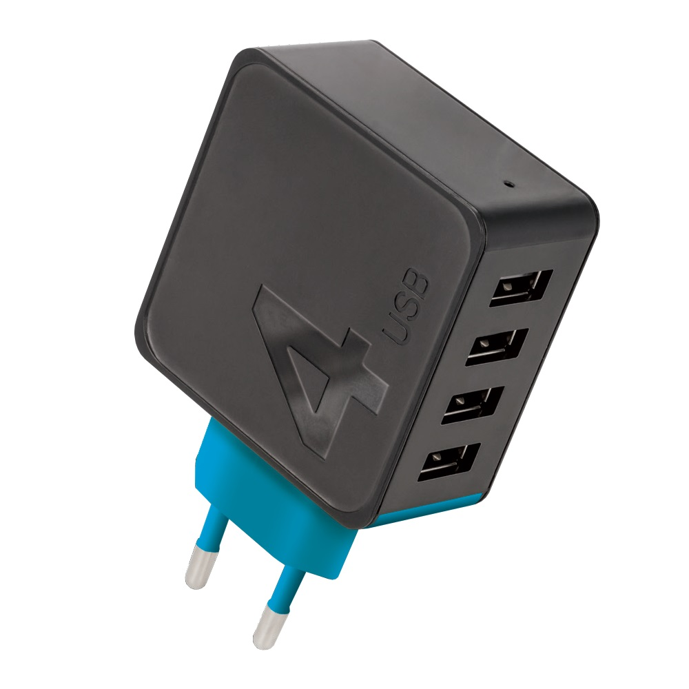 Forever TC-04 Зарядное устройство 4xUSB, 4.8 A | Forever wall charger