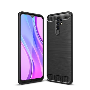 Xiaomi Redmi 9 Carbon Fiber TPU Case - Black | Чехол для телефона