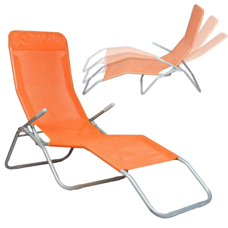 Dārza Pludmales Guļamkrēsls Sauļošanās Atpūtas Saliekams