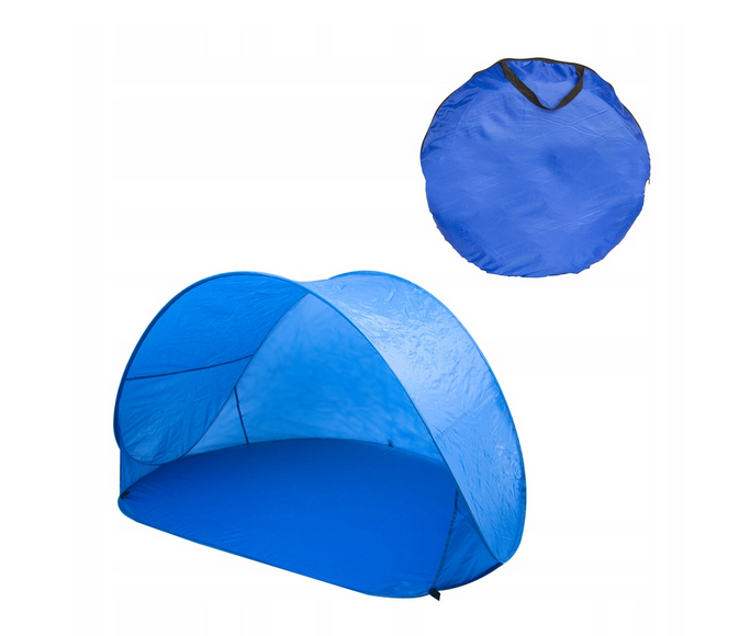 Beach Garden Tent Mini Canopy for Sunbathing XL 140 x 100 x 80 cm, Blue