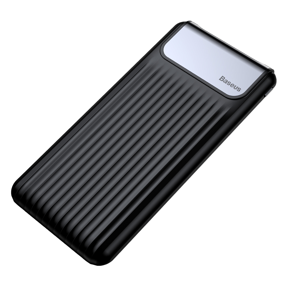 Baseus Portatīvais Akumulators Power Bank 10000mAh 2x USB 1x USB Type C 2.1A, Black (1)